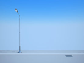 stock photo of lamp post  - Road - JPG