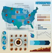 foto of sate  - Set of infographic elements for showing statistics and demographics including people - JPG