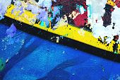 Closeup Of Colorful Urban Wall Texture. Modern Pattern For Wallpaper Design. Creative Urban City Bac poster