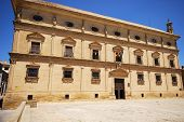 Front View Of The Town Hall Housed In Palacio De Las Cadenas (chains Palace), Ubeda, Andalucia, Spai poster