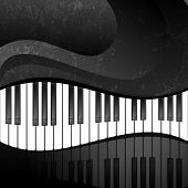 stock photo of clefs  - Abstract background with piano keys in grunge style - JPG