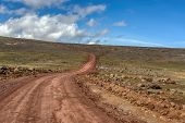 Landscape With Road To Top Of The Ethiopian Bale Mountains National Park. Ethiopia Wilderness Pure N poster