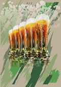 picture of guinness  - glass of beer on the background of military - JPG