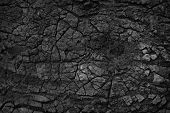 Dry Ground Texture With Deep. Crack Lava Background. poster