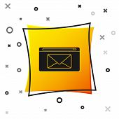 Black Mail And E-mail Icon Isolated On White Background. Envelope Symbol E-mail. Email Message Sign. poster