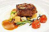 pic of chateaubriand  - Tenderloin steak in plate - JPG