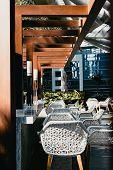 Designated Lounge Area In A Hotel In Dubai poster