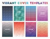 Vibrant Cover Templates. Adorable Geometric Patterns, Tempting Vector Illustration. poster