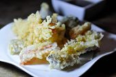 Tempura Or Deep Fried Shrimp And Deep Fried Vegetable, Japanese Food poster