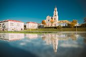 Grodno, Belarus. Catholic Church Of Discovery Of Holy Cross And Bernardine Monastery In Autumn Sunny poster