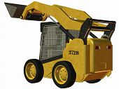 stock photo of skid-steer  - 3D Render of an Skid Steer Loader - JPG