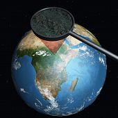 picture of geosphere  - 3 D Computer Render of the Earth - JPG