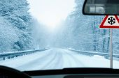 foto of ice-scraper  - driving in winter  - JPG