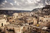 stock photo of sassy  - Sassi the historic center of the city Matera in Italy - JPG