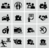 stock photo of injury  - Insurance icons - JPG