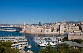 pic of saint-nicolas  - View of Marseilles harbor and Fort Saint - JPG