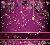 picture of happy new year 2013  - Happy New Year background gold and violet - JPG