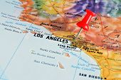 Los Angeles on map poster
