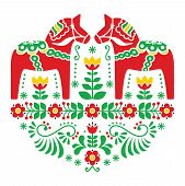 pic of scandinavian  - Traditional Scandinavian background  - JPG