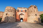 foto of darwaza  - Purana Qila is the oldest fort among all forts in Delhi - JPG