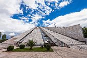 picture of communist symbol  - The Pyramid in Tirana was built by communist dictator Enver Hoxha - JPG
