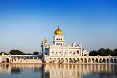 stock photo of bangla  - Gurdwara Bangla Sahib is the most prominent Sikh gurdwara - JPG
