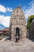 stock photo of himachal  - Gauri Shankar Temple in Naggar Himachal Pradesh India - JPG