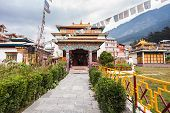 picture of tibetan  - Tibetan monastery in Manali village Himalaya India - JPG