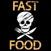 picture of obituary  - Illustration background of fast food as unhealthy lifestyle - JPG