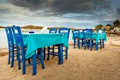 stock photo of ouzo  - Greek tavern sea food in Halkidiki Sithonia  - JPG