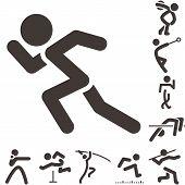 stock photo of pole-vault  - Summer sports icons  - JPG
