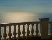 image of bannister  - Architecture detail on the Black Sea coast near Sevastopol - JPG