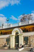 picture of sevastopol  - Monument to sailors on the beach in Sevastopol  - JPG