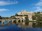 image of orbs  - Beziers old city and pont vieux  - JPG