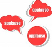 stock photo of applause  - applause word on modern banner design template - JPG