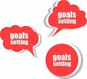 stock photo of goal setting  - goals settings - JPG