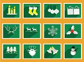 stock photo of rudolph  - Set of elements for Christmas and New Year greeting cards - JPG