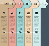 image of step-up  - Modern minimal timeline arrow infographics elements - JPG