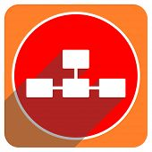 pic of cisco  - database red flat icon isolated  - JPG