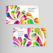picture of teardrop  - Sample business card with bright teardrop - JPG