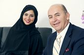 image of hijabs  - Business Meeting Between a Senior Businessman  - JPG