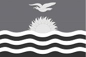 stock photo of grayscale  - An Illustrated grayscale flag of the country of Kiribati - JPG