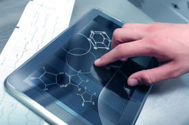 pic of chemistry technician  - Chemistry and medicine in modern medical  technologies - JPG