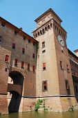 picture of castello brown  - The medieval Castle Estense  - JPG