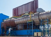 stock photo of biogas  - One of the aggregation of electric steel plant of the new generation - JPG