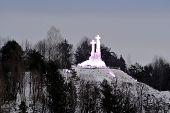 pic of cross hill  - The Hill of Three Crosses in Vilnius on morning time on January 29 2015 Vilnius Lithuania - JPG