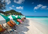stock photo of yuan  - View of Nang Yuan island of Koh Tao island Thailand - JPG