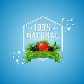 Постер, плакат: Hundred percent natural organic product