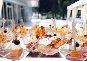 image of banquet  - aperitif snacks food canape banquet wedding equipment - JPG