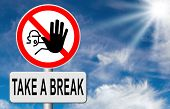stock photo of breath taking  - take a break for lunch coffee or take a a vacation or leisure day off to rest - JPG